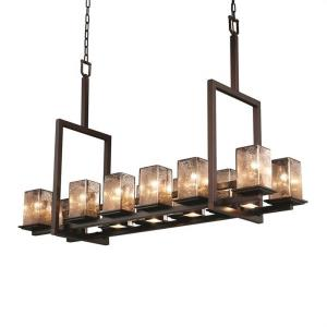 Fusion - Montana 12-Up & 5-Downlight Tall Bridge Chandelier