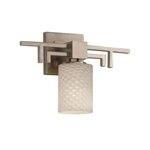 Fusion Aero - 1 Light Wall Sconce with Cylinder/Flat Rim Weave Glass Shade