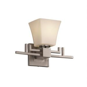 Fusion Aero - 1 Light Wall Sconce with Square Flared Opal Glass Shade