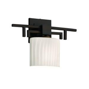 Fusion Aero - 1 Light ADA Wall Sconce with Oval Ribbon Glass Shade