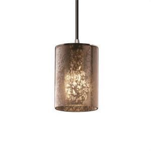 Fusion Mini - 1 Light Pendant with Cylinder/Flat Rim Mercury Glass Shade