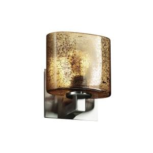 "Fusion - 7.25"" One Light Bracket Oval Wall Sconce"