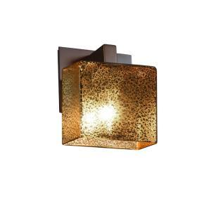Fusion Modular - 1 Light ADA Bracket Wall Sconce with Rectangle Mercury Glass Shade