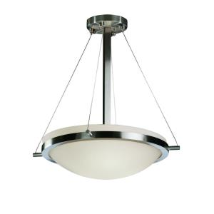 Fusion Ring - 3 Light Pendant with Round Bowl Opal Glass Shade