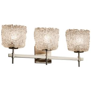 Veneto Luce Union - 3 Light Bath Bar with Oval Lace Venetian Glass