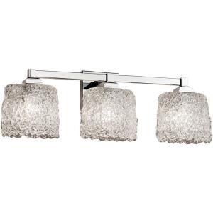 Veneto Luce Regency - 3 Light Bath Bar with Oval Lace Venetian Glass
