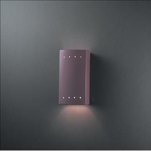 Ambiance - Small Rectangle with Perfs Open Top and Bottom Wall Sconce