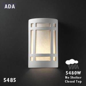 Ambiance - Small ADA Craftsman Window Open Top and Bottom Wall Sconce