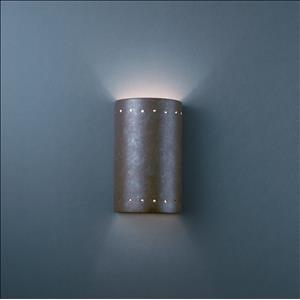 Ambiance - Small ADA Cylinder with Perfs Open Top and Bottom Wall Sconce