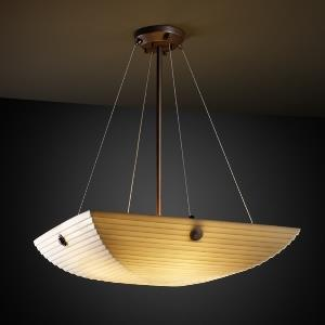 Porcelina - Finials 3-Light 21 Inch Pendant Bowl