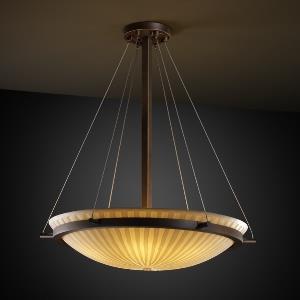 Porcelina - Ring 3-Light 21 Inch Round Pendant Bowl