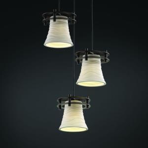 Limoges - Three Light Cluster Circa Pendant