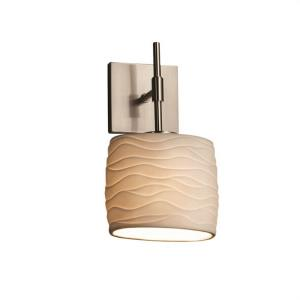 Limoges Union - 1 Light ADA Wall Sconce with Waves Oval Shade