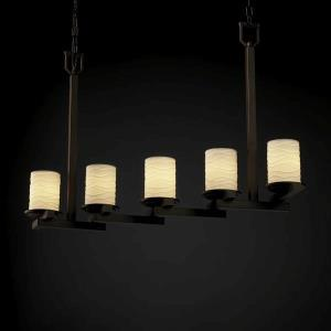 Limoges - Five Light Zig-Zag Chandelier