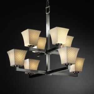 Modular Eight Light 2-Tier Chandelier