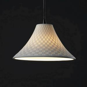 Wide Round Flared Pendant