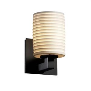 Limoges Modular - 1 Light Wall Sconce with Sawtooth Flat Rim Cylinder Shade