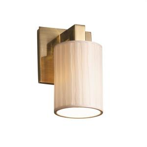 Limoges Modular - 1 Light Wall Sconce with Waterfall Flat Rim Cylinder Shade
