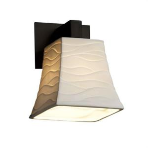 Limoges Modular - 1 Light Wall Sconce with Waves Square Flared Shade