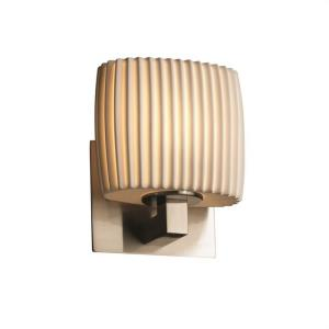 Limoges Modular - 1 Light ADA Wall Sconce with Pleats Oval Shade