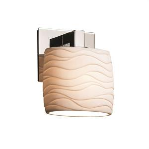 Limoges Modular - 1 Light ADA Wall Sconce with Waves Oval Shade