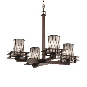 Wire Glass - Metropolis 4-Light Chandelier