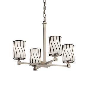 Wire Glass - Tetra 4-Light Chandelier