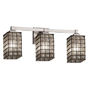 Wire Glass - Three Light Regency Bath Vanity