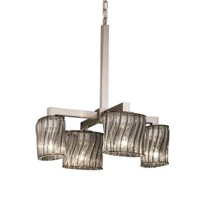 Wire Glass - Modular 4-Downlight Chandelier
