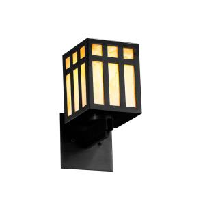 Windows Collection - Prairie Window 1-Light Wall Sconce - Matte Black Finish