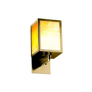 Windows Collection - Simple Window 1-Light Large Wall Sconce - Antique Brass Finish