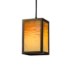 Windows Collection - Simple Window 1-Light Pendant - Dark Bronze Finish