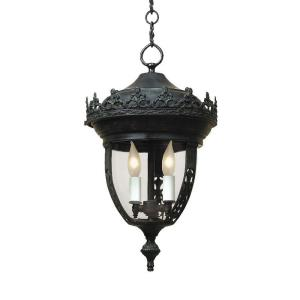 Two Light Small Outdoor Hanging Lantern