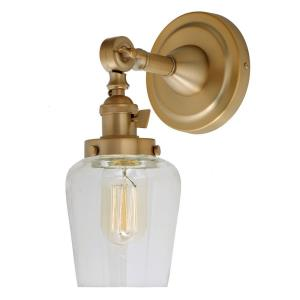 Soho - One Light Wall Sconce Satin Brass