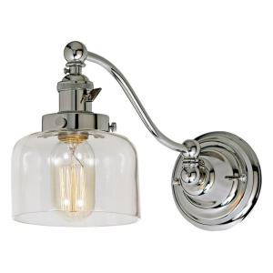 "Soho - 7.5"" One Light Swing Arm Wall Sconce Polished Nickel"