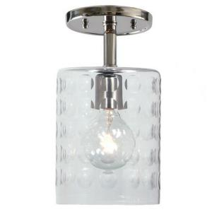 "Grand Central - 10.5"" One Light Hammered Semi-Flush Mount"