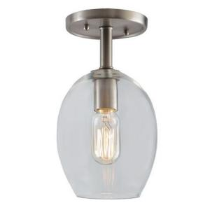 "Grand Central - 11"" One Light Clear Semi-Flush Mount"
