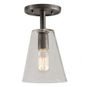 "Grand Central - 10"" One Light Clear Semi-Flush Mount"