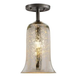 "Grand Central - 13"" One Light Antique Semi-Flush Mount"