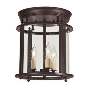 Murray Hill - Three Light Medium Flush Mount