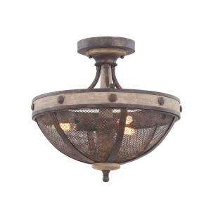 Coronado - Three Light Semi-Flush Mount