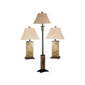 Bennington 3 Pack Table and Floor Lamp