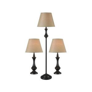 Genie - One Light Combo lamp(2 Table Lamp and 1 Floor Lamp)