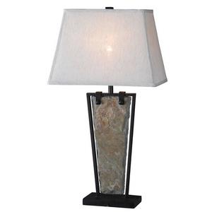Free Fall - One Light Rectangle Table Lamp