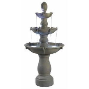 Sherwood - Three Light Outdoor Floor Fountain
