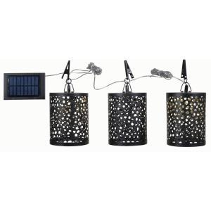 Dawn - 3 Light Solar Umbrella Set