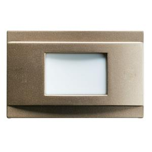 1.38W 4 LED Step Light - with Utilitarian inspirations - 1.25 inches tall by 2 inches wide
