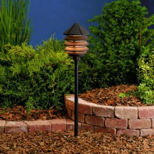 Six Groove - Low Voltage 1 light Path Lamp - 9.5 inches tall by 6 inches wide