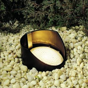 Low Voltage 1 light In Ground Lamp - with inspirations - 8 inches tall by 5.5 inches wide