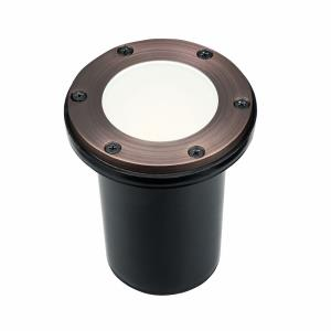 1 light In-Ground Path Light - with Utilitarian inspirations - 4.75 inches tall by 4.75 inches wide
